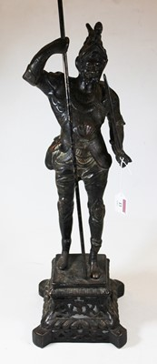 Lot 13 - A 20th century lacquered bronze figure of a...