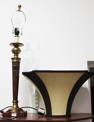Lot 24 - A 20th century turned beech and brass mounted...