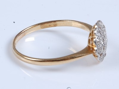 Lot 2557 - A yellow and white metal diamond circular...