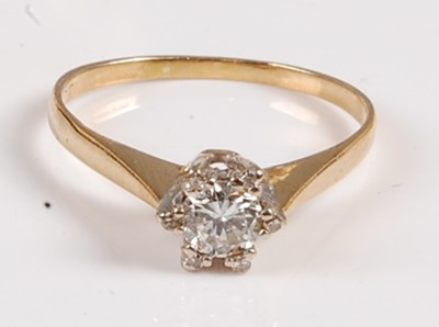 Lot 2561 - A yellow and white metal diamond star-shaped...