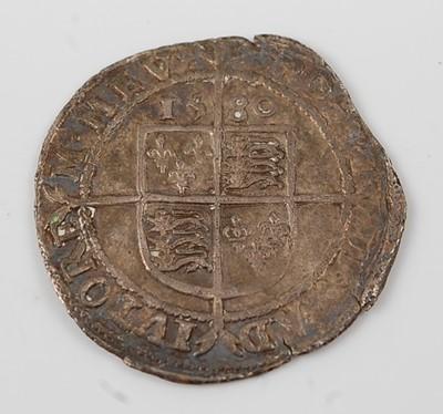 Lot 2090 - England, 1580 sixpence, Elizabeth I bust left...