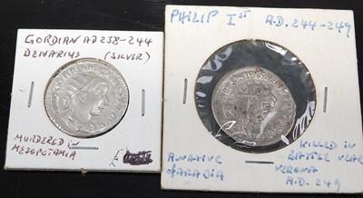Lot 2154 - Roman, Gordian III (AD 238-244) silver...