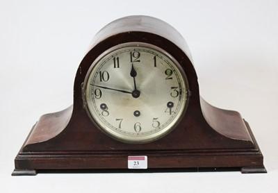 Lot 23 - A 1920s mahogany cased mantel clock, having a...