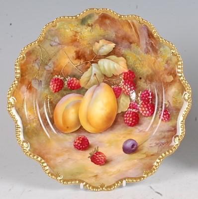 Lot 1023 - A Royal Worcester porcelain cabinet...