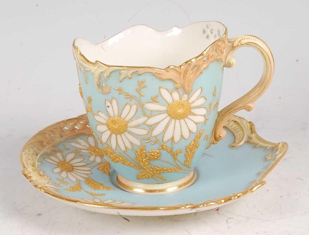 Lot 3033 - A Royal Worcester porcelain Empress teacup and...