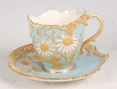 Lot 1020 - A Royal Worcester porcelain Empress teacup and...