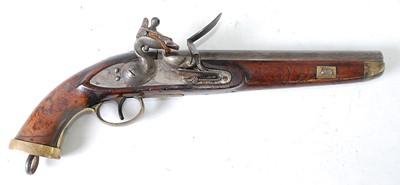 Lot A 19th century Belgian flintlock military...