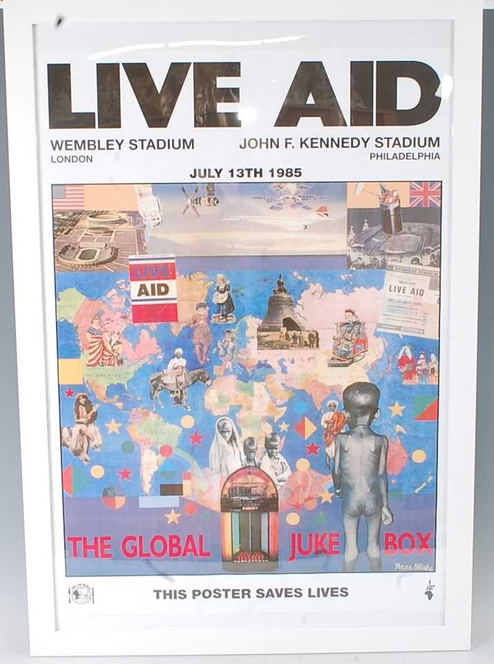 Lot 518 - Live Aid, an official poster for the 1985...