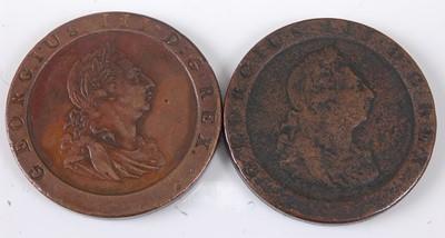 Lot 2151 - Great Britain, 1797 cartwheel penny, Soho mint,...