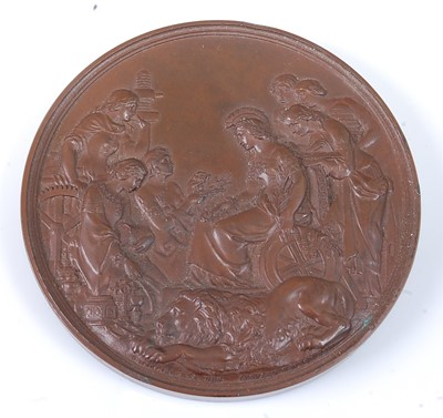 Lot 2002 - London Exhibition 1862, prize medal in bronze,...