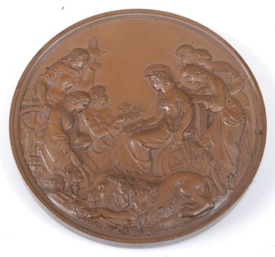 Lot 2008 - London Exhibition 1862, prize medal in bronze,...