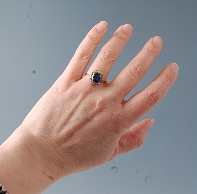 Lot 2565 - A late 19th century synthetic sapphire and...