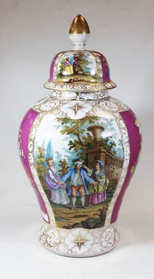 Lot 12 - A large early 20th century German porcelain...