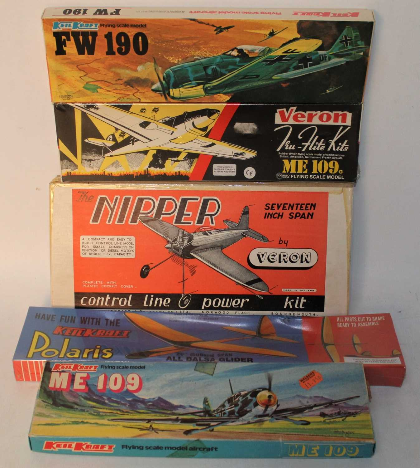 Lot 1020 - A group of 5 Keil Kraft and others kits as...