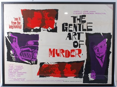 Lot 519 - The Gentle Art Of Murder, 1962 UK quad poster,...