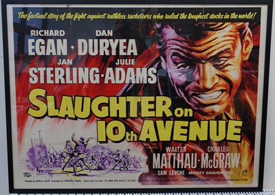 Lot 520 - Slaughter On 10th Avenue, 1957 UK quad poster,...