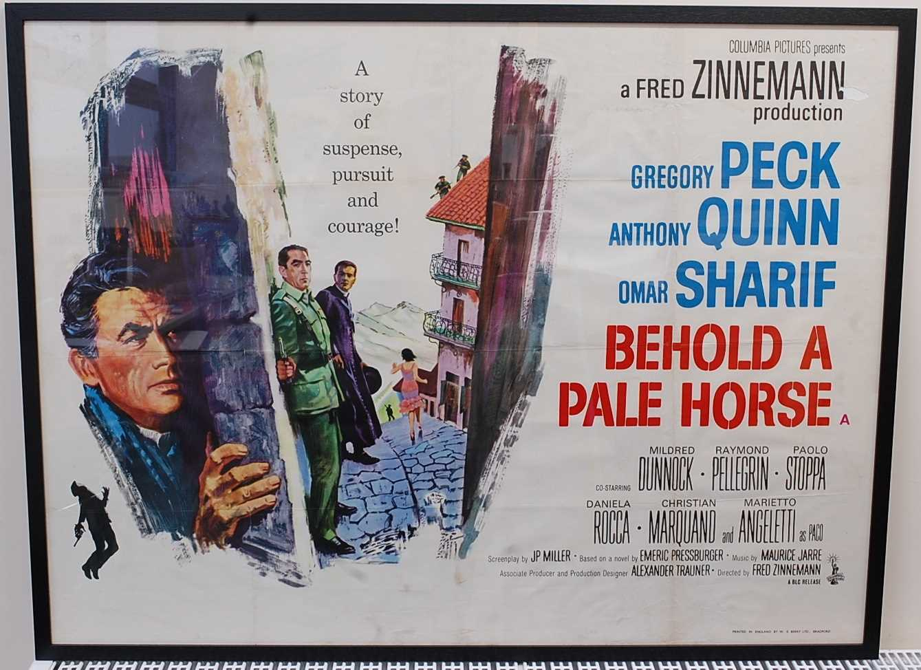Lot 522 - Behold A Pale Horse, 1964 UK quad poster,...