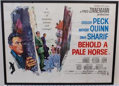 Lot 522 - Behold A Pale Horse, 1964 UK quad poster,...