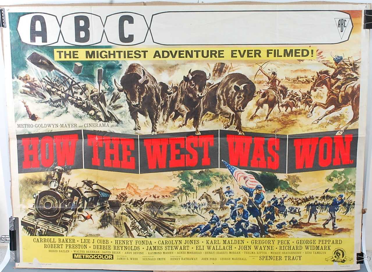 Lot 521 - How The West Was Won, 1962 UK quad film poster,...