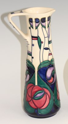 Lot 16 - A contemporary Moorcroft pottery ewer, in the...