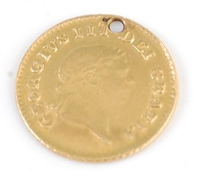 Lot 2072 - A gold 1/3 guinea, George III laureate bust,...