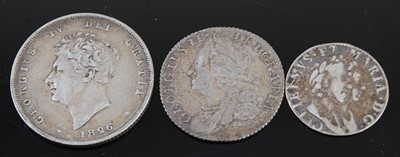 Lot 2110 - Great Britain, 1689 Maundy threepence, William...