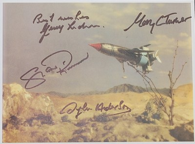 Lot 547 - Thunderbirds, a coloured print showing...