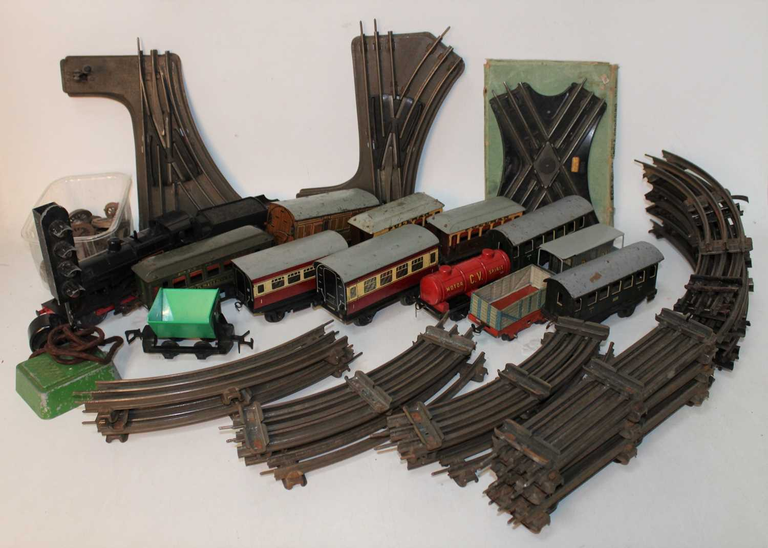 Lot 210 - Plastic crate containing non-Hornby (?...