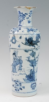 Lot 4 - A blue and white porcelain vase, possibly...