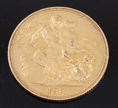 Lot 2036 - Great Britain, 1887 gold full sovereign,...