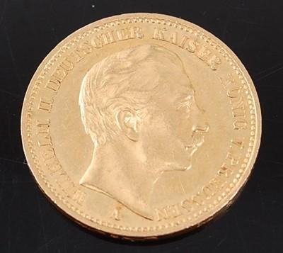 Lot 2075 - Kingdom of Prussia, 1900 gold 20 Mark, Wilhelm...