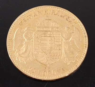 Lot 2076 - Hungary, 1910 gold 10 korona, Franz Joseph I...
