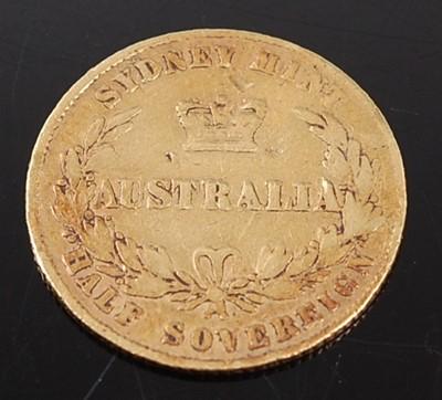 Lot 2037 - Australia, 1865 gold half sovereign, Sydney...
