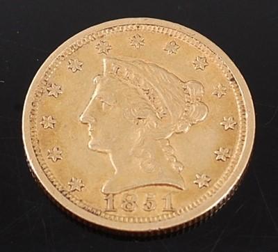 Lot 2073 - U.S.A., 1851 gold 2 1/2 dollar, Philadelphia...