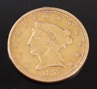 Lot 2074 - U.S.A., 1873 gold 2 1/2 dollar, Philadelphia...