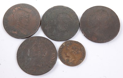 Lot 2160 - A 1794 Middlesex Whales Fishery half penny...
