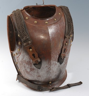 Lot A 19th century French Cavalry cuirass, the...