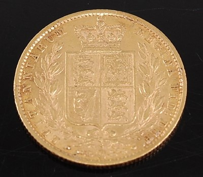 Lot Great Britain, 1879 gold full sovereign,...