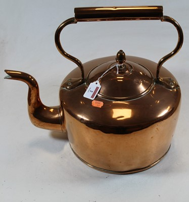 Lot 2 - A large early 20th century polished copper...