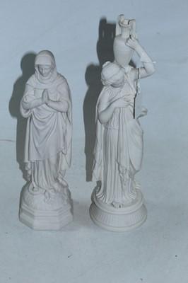 Lot 5 - A Parian figure of a female Grecian water...