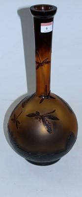 Lot 6 - A Czechoslovakian Zelenka cameo glass style...