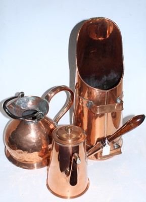 Lot 9 - A large 19th century hammered copper one...