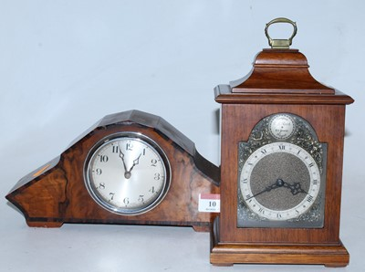 Lot 10 - An Art Deco walnut and rosewood crossbanded...