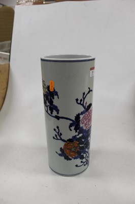 Lot 55 - A Chinese stoneware vase of cylindrical form,...