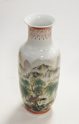 Lot 24 - A Chinese vase of baluster form decorated with...