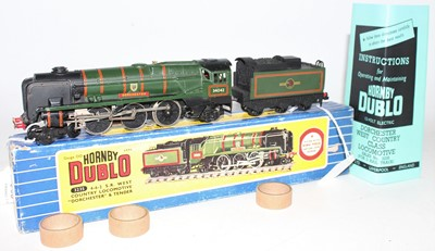Lot 306 - Hornby Dublo 3225 4-6-2 West Country...