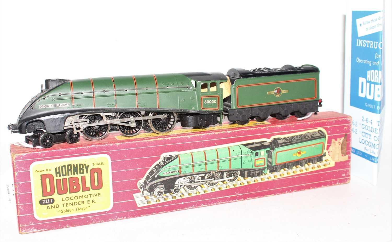 Lot 311 - Hornby Dublo 2211 2-rail locomotive and tender,...