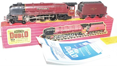 Lot 312 - Hornby Dublo 2226 2-rail locomotive and tender...