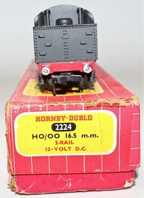 Lot 313 - Hornby Dublo 2224 2-rail locomotive and tender...
