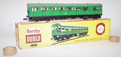 Lot 314 - Hornby Dublo 2250 2-rail electric motor coach,...